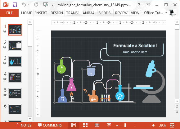 Animated chemistry PowerPoint template - Animated PNG For Ppt Free Download