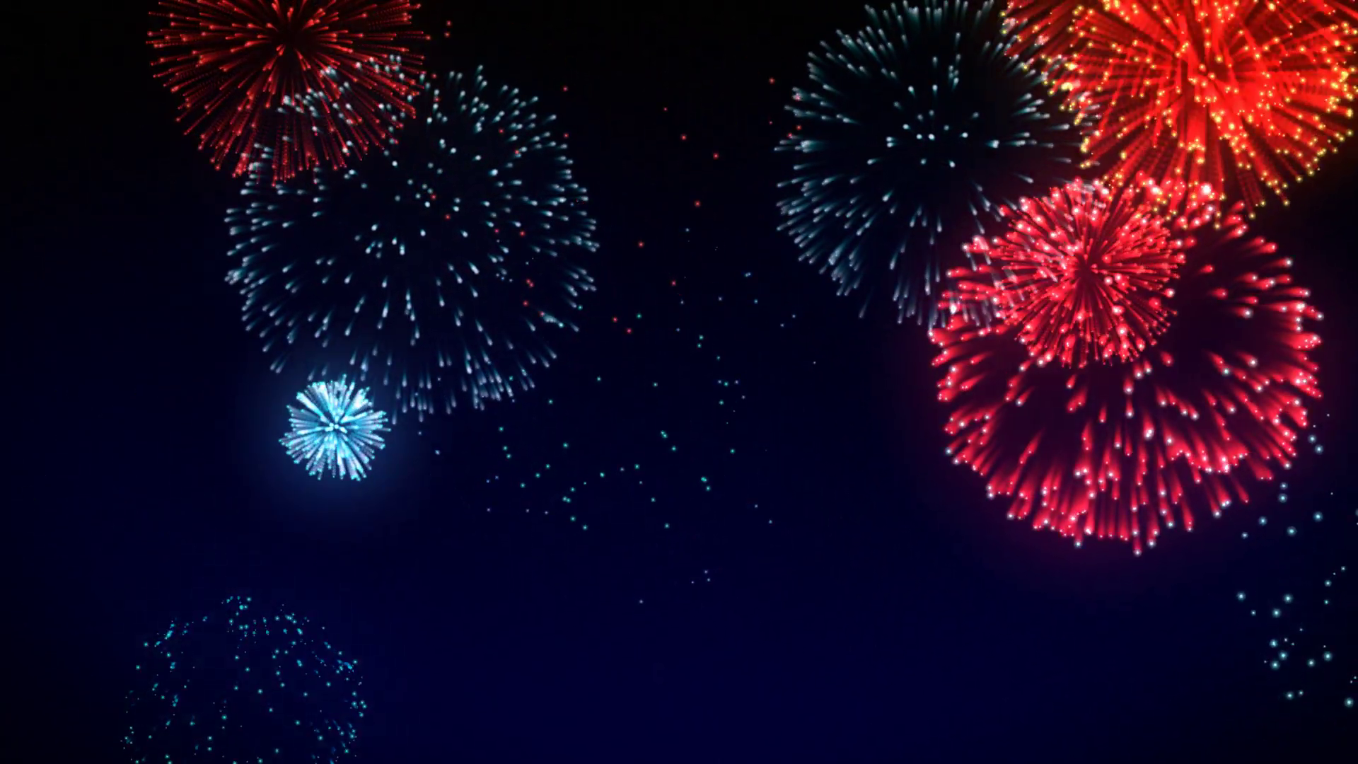 Animated PNG HD Fireworks - 129183