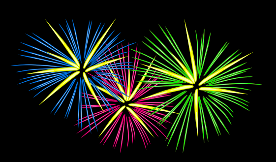 Animated PNG HD Fireworks - 129186