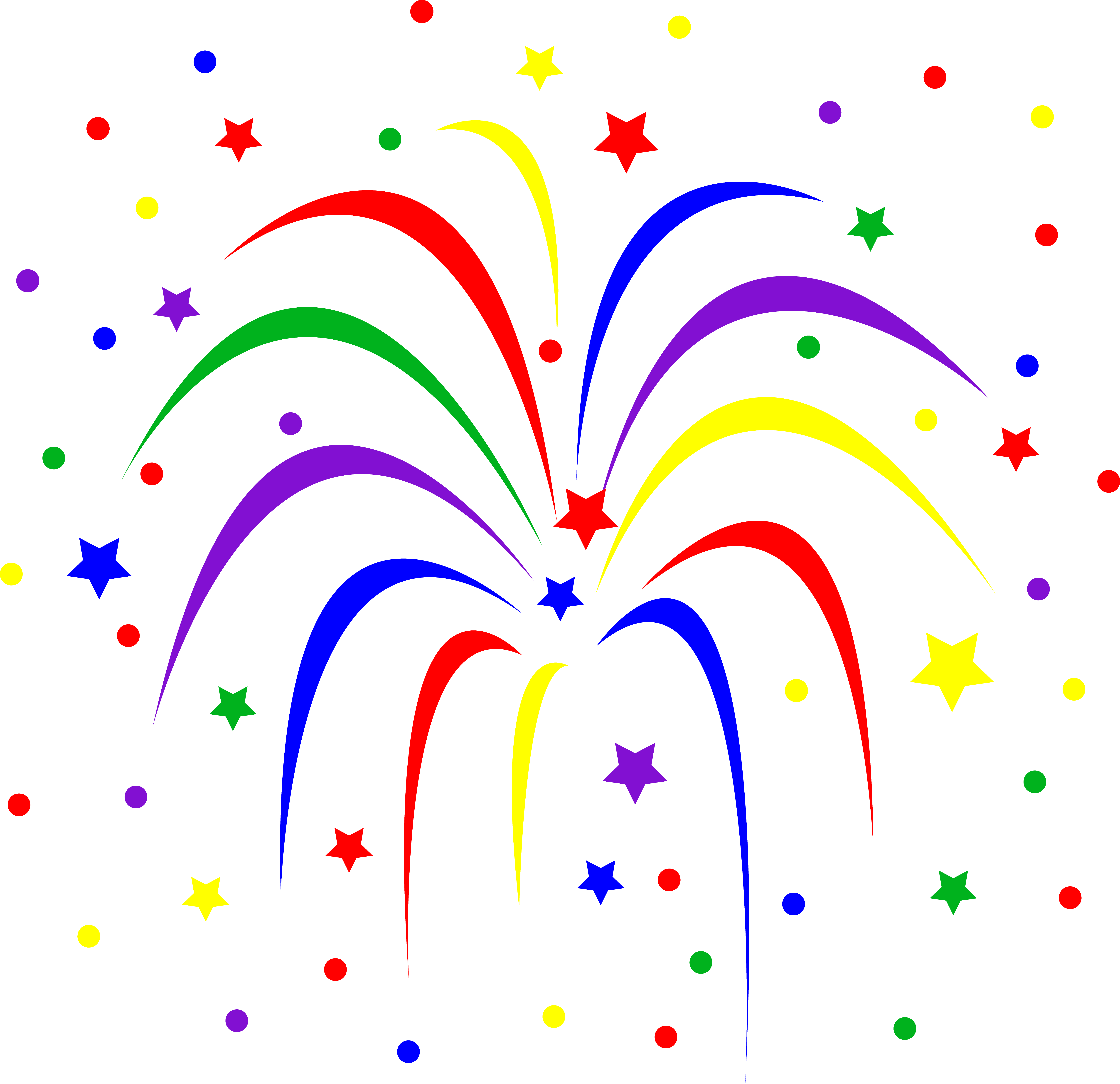 Animated PNG HD Fireworks - 129194