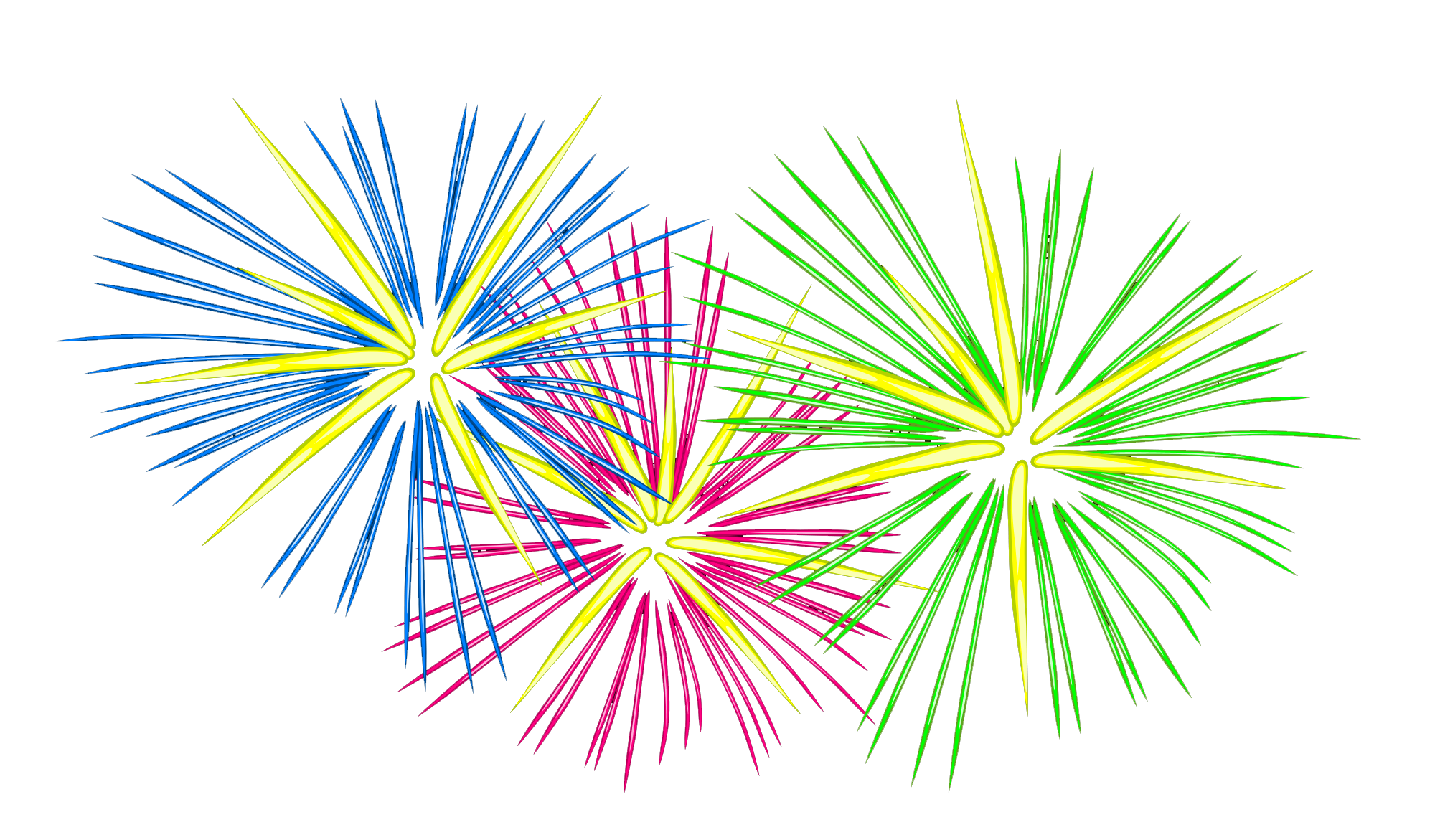 Animated PNG HD Fireworks - 129184