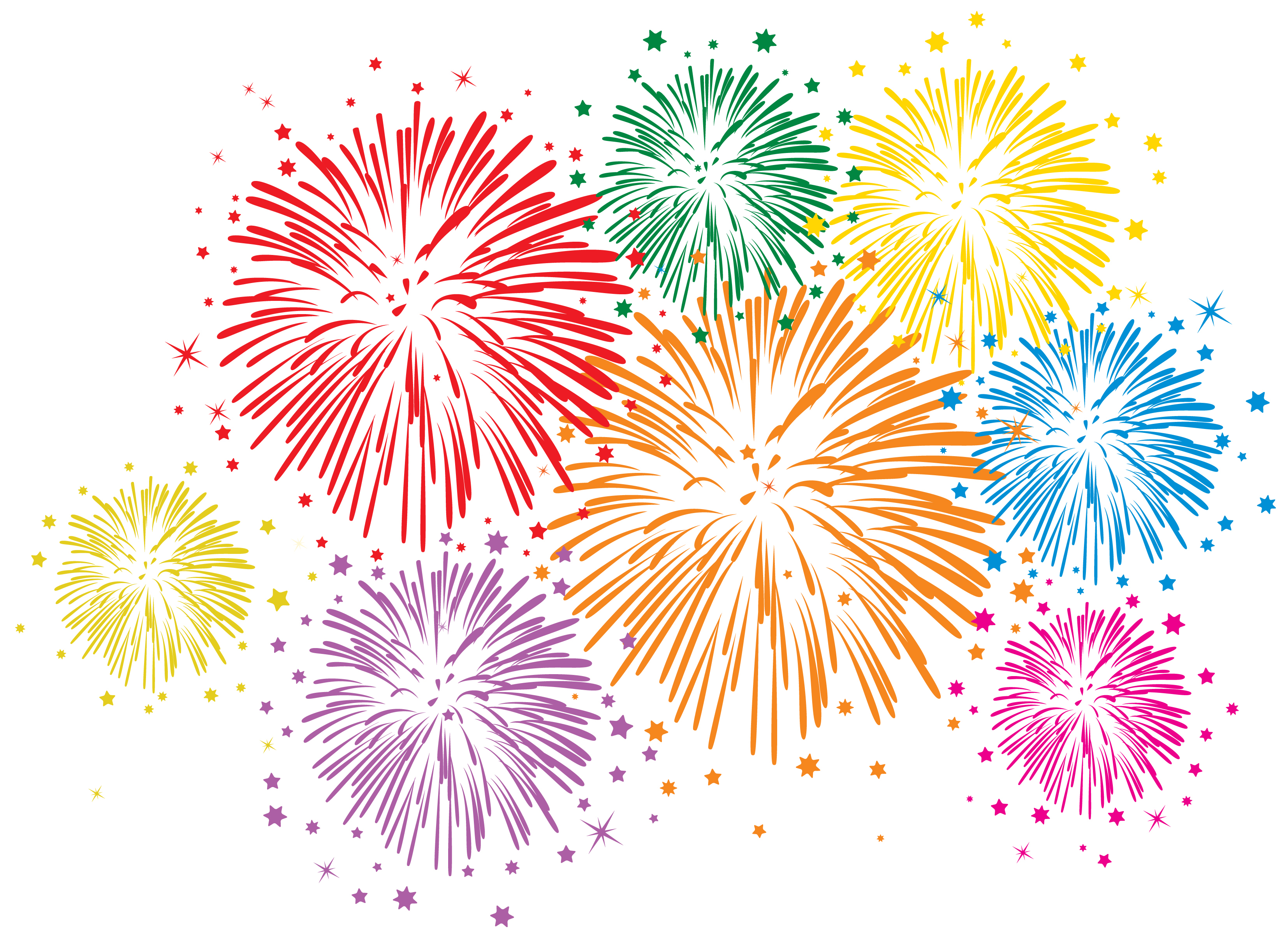 Animated PNG HD Fireworks - 129193