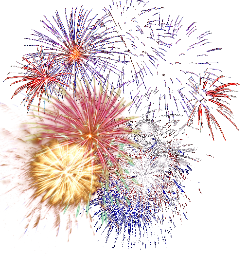 Animated PNG HD Fireworks - 129185