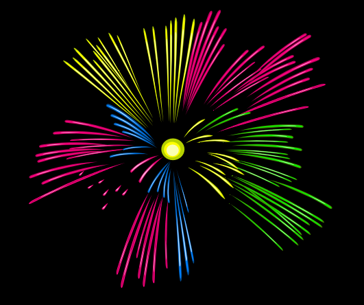Animated PNG HD Fireworks - 129189
