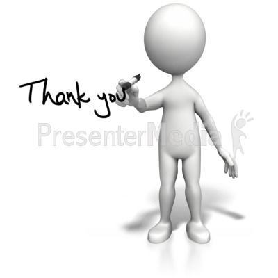 Stick Figure Drawing Thank You Presentation Clipart | Presentermedia  pertaining to Animated Thank You Images For - Animated Thank You PNG For Powerpoint