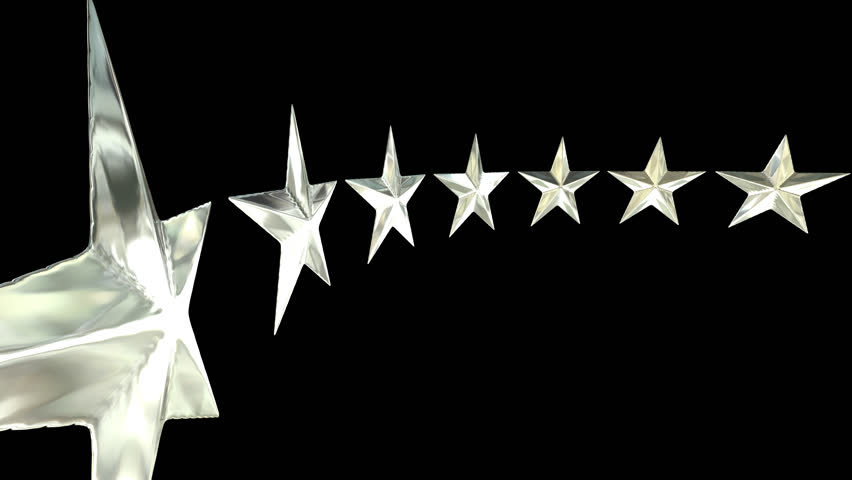 Animated rotating circle of silver stars against transparent background in  4k (Alpha channel embedded with - Animation HD PNG