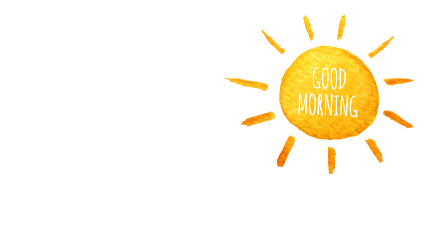 Cute cartoon sun painted in watercolor. Good morning. Seamless loop  animation. Hand drawn - Animation HD PNG