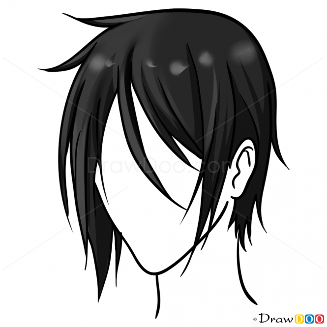 Anime Hair PNG-PlusPNG.com-665 - Anime Hair PNG