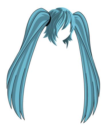 Anime Hair PNG - 169009