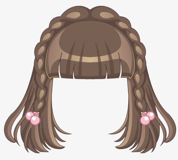 cute girls hairstyle, Anime, Girl, Hair PNG and PSD - Anime Hair PNG
