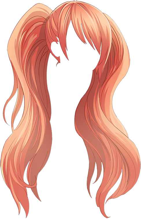 Does this look a bit like Osanau0027s hair from Yandere Simulator to anyone  else? - Anime Hair PNG