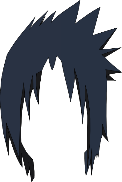 Download this image as: - Anime Hair PNG