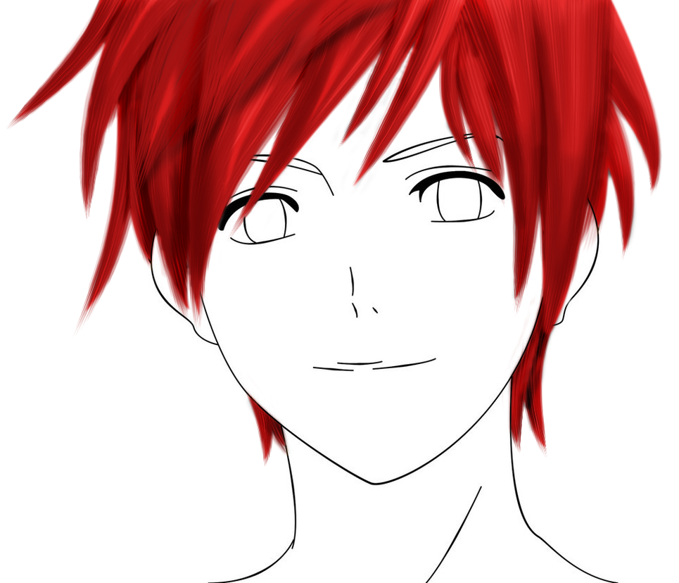 red hair guy (hair) by khuraudo PlusPng.com  - Anime Hair PNG