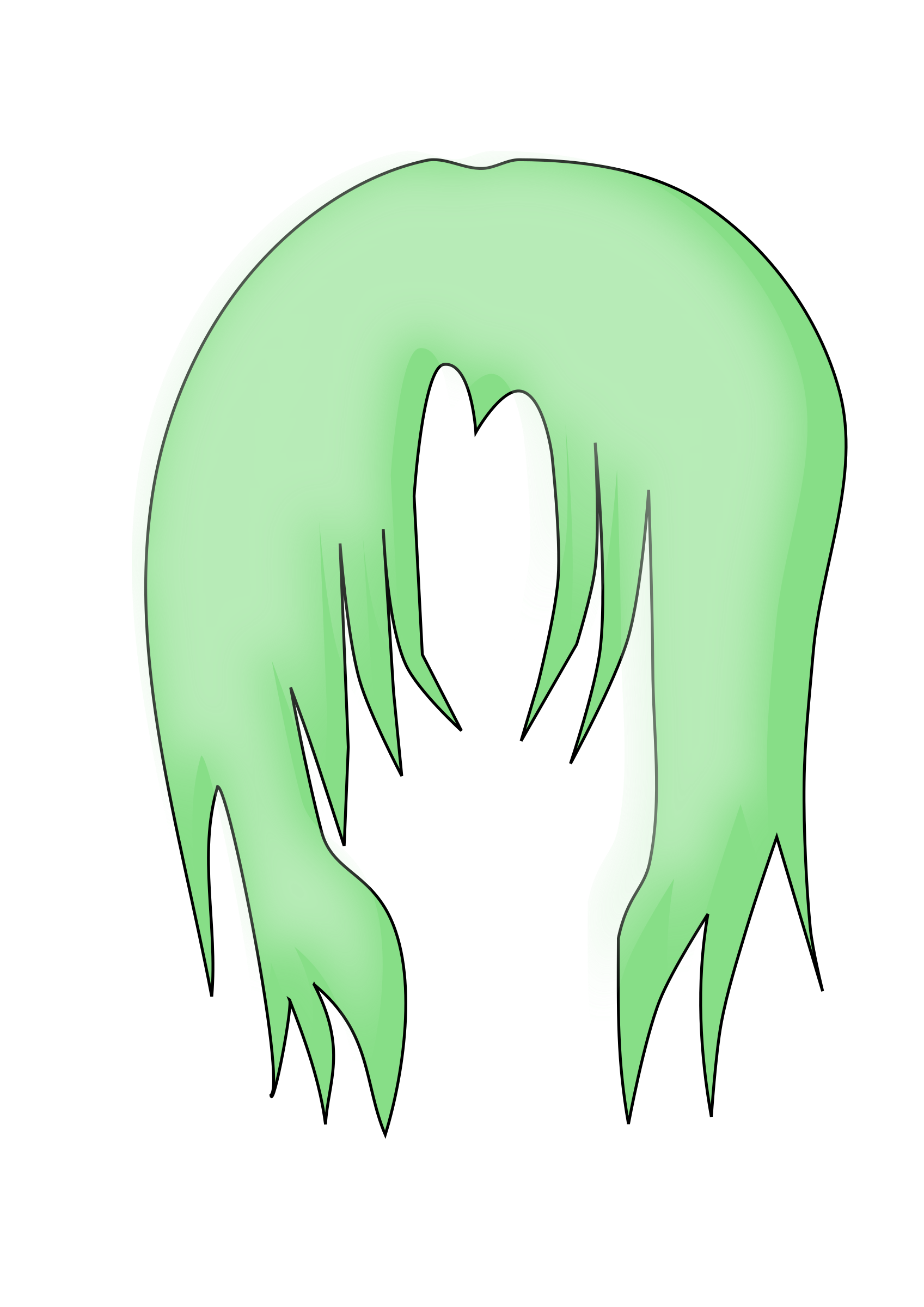 This free Icons Png design of Anime Hair 3 PlusPng.com  - Anime Hair PNG