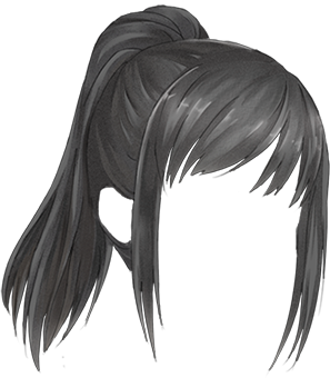 This looks like Ayanou0027s hair From Yandere Simulator - Anime Hair PNG