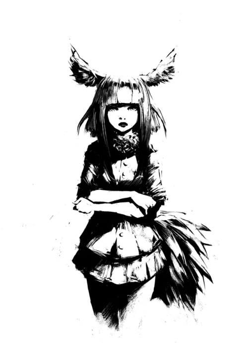 Anime PNG Black And White-PlusPNG.com-500 - Anime PNG Black And White