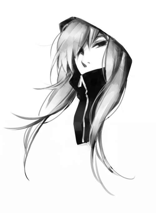 Anime Png Black And White Transparent Anime Black And White Png