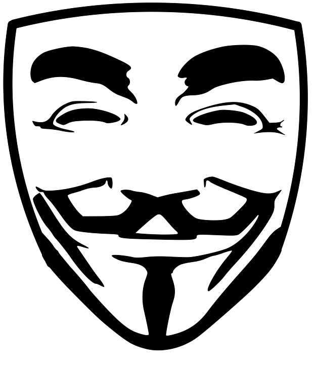 Anonymous, Face, Hacking, Mask, Protest, Revolt - Anonymous Vector PNG