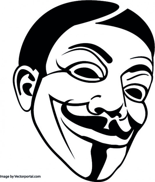 Anonymous Mask Free Vector - Anonymous Vector PNG