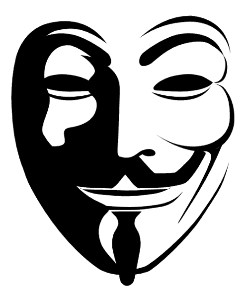 Anonymous Mask Vector - Anonymous Vector PNG