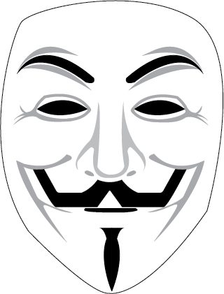 Anonymous Mask Vector By FurbyDesign PlusPng.com  - Anonymous Vector PNG