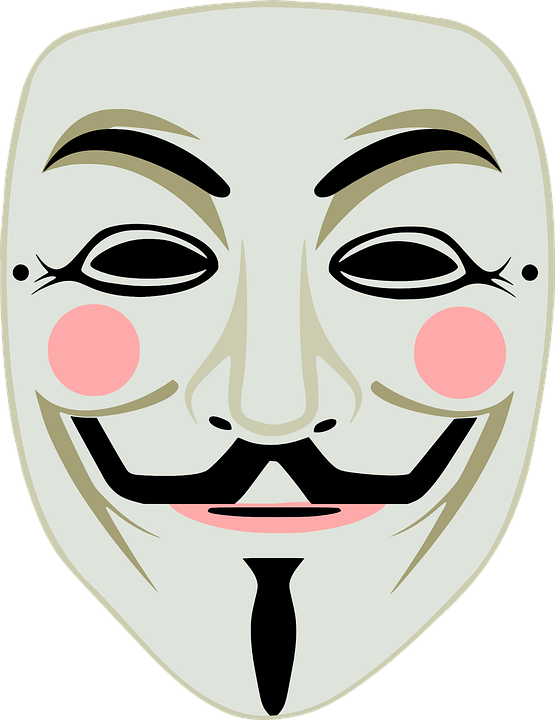 Fawkes, Fawkes Mask, Guy, Anonymous, Color, Mask, Meme - Anonymous Vector PNG