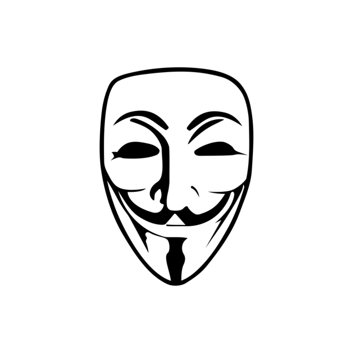 Guy Fawkes Anonymous Mask Graphics Design SVG DXF PNG Vector Art Clipart  Instant - Anonymous Vector PNG