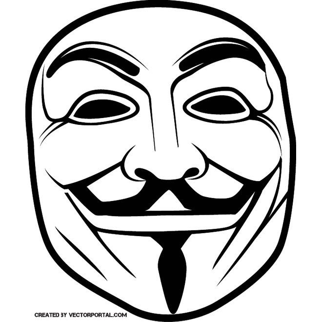 GUY FAWKES ANONYMOUS MASK VECTOR - Anonymous Vector PNG