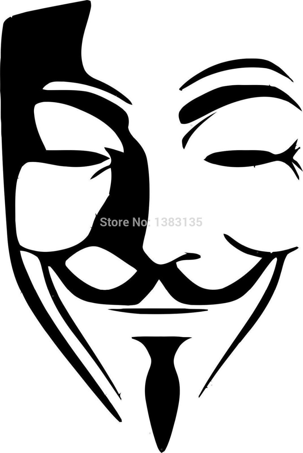 Wholesale 50 Pcs/lot Anonymous Mask Vector Image Car Sticker For Truck  Window Bumper SUV - Anonymous Vector PNG
