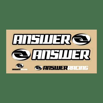 Answer Racing Logo Vector PNG - 113851