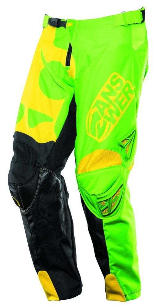 Green, Yellow Answer Boys Skullcandy Pants 2014 Us 24 Green Yellow PlusPng.com  - Answer Racing Us PNG