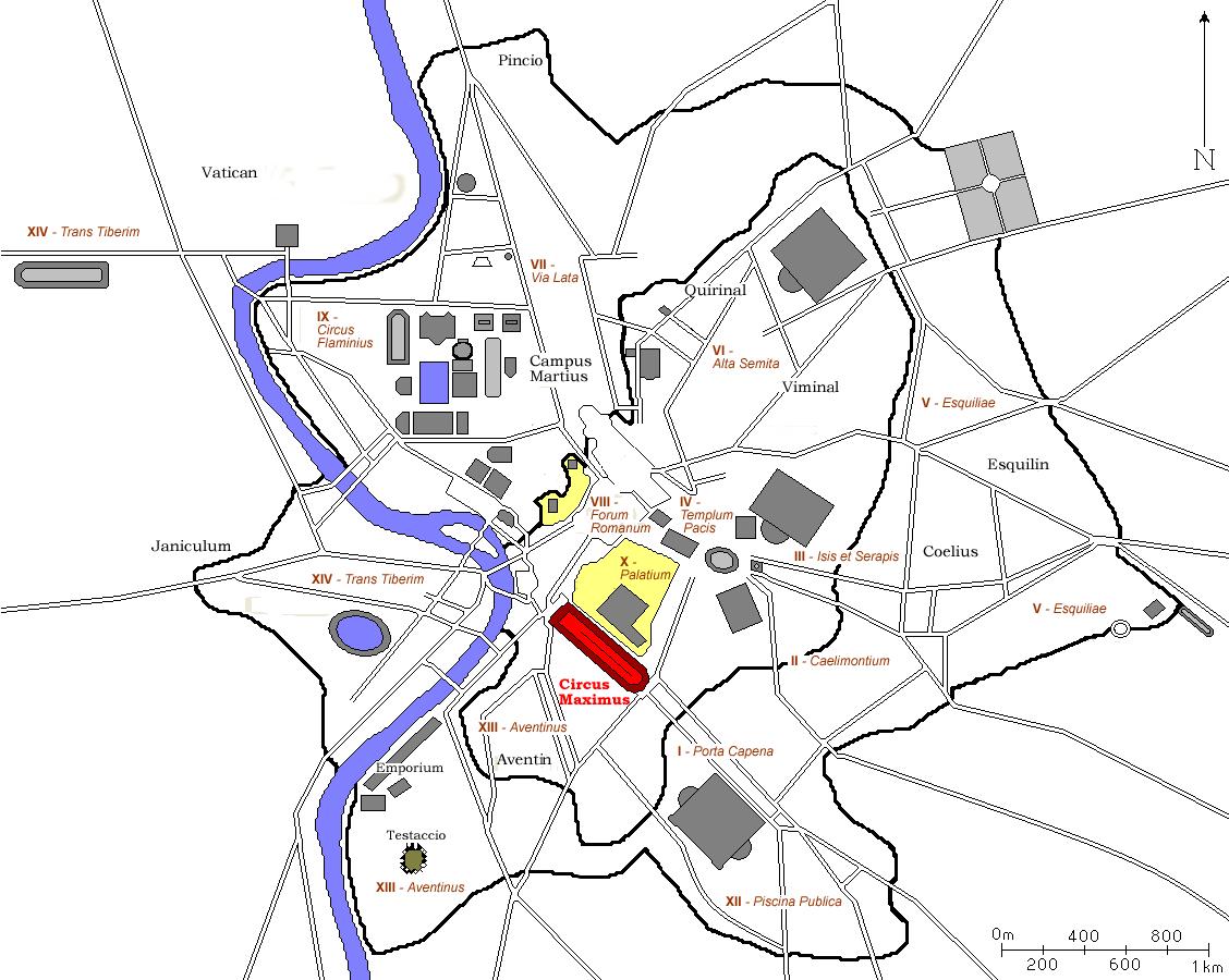Datei:Plan Rom Circus Maximus.png - Antikes Rom PNG