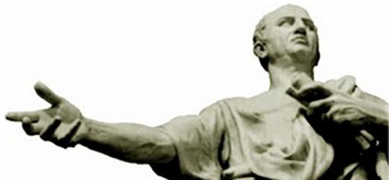 Eine antike Statue