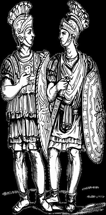 Soldaten, Römer, Antike, Klassische, Rom, Jahrgang