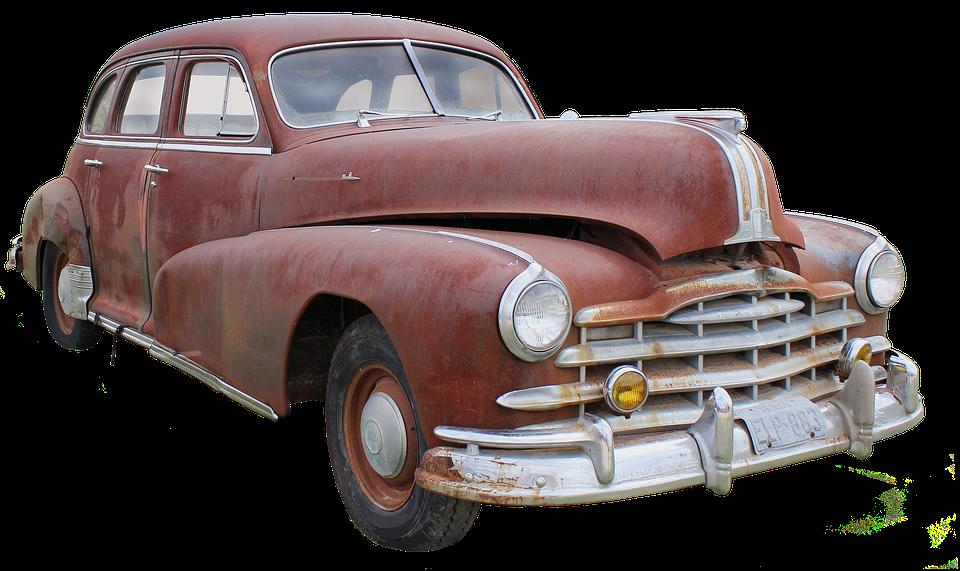 Pontiac Usa Wreck Dare Corrosion Car Wreck - Antique Car PNG HD