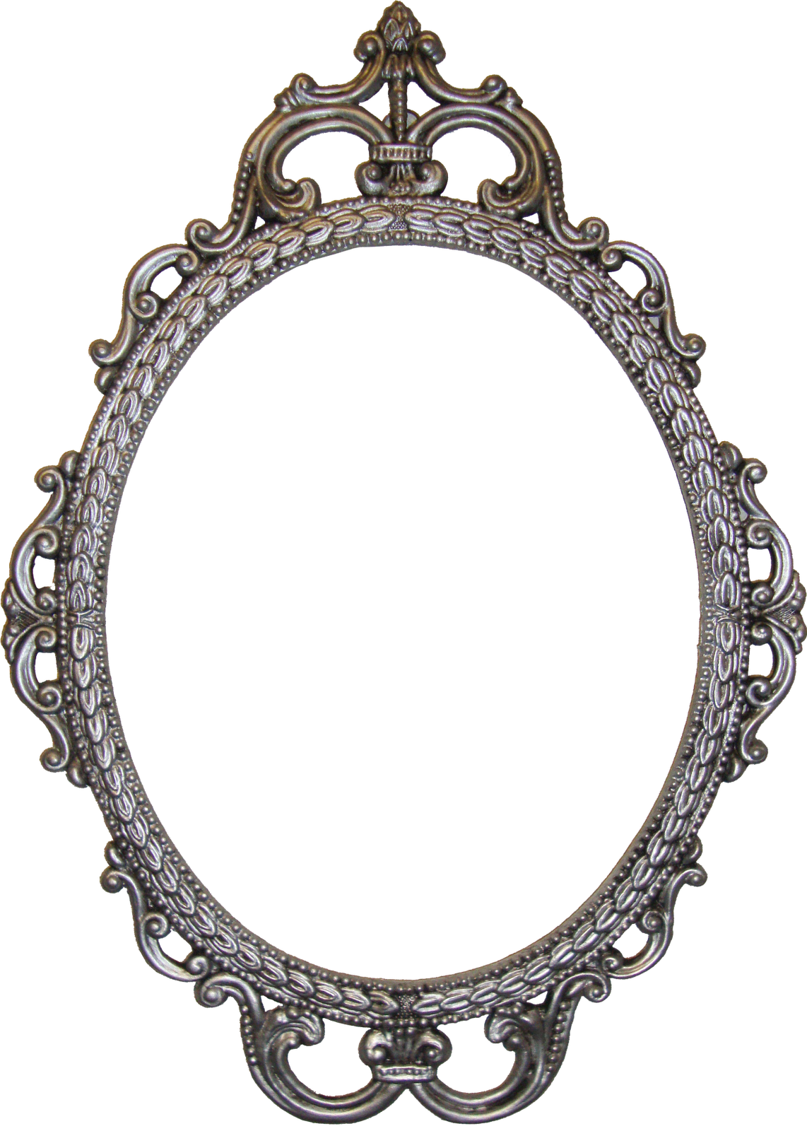 Oval Wood Picture Frame in Se