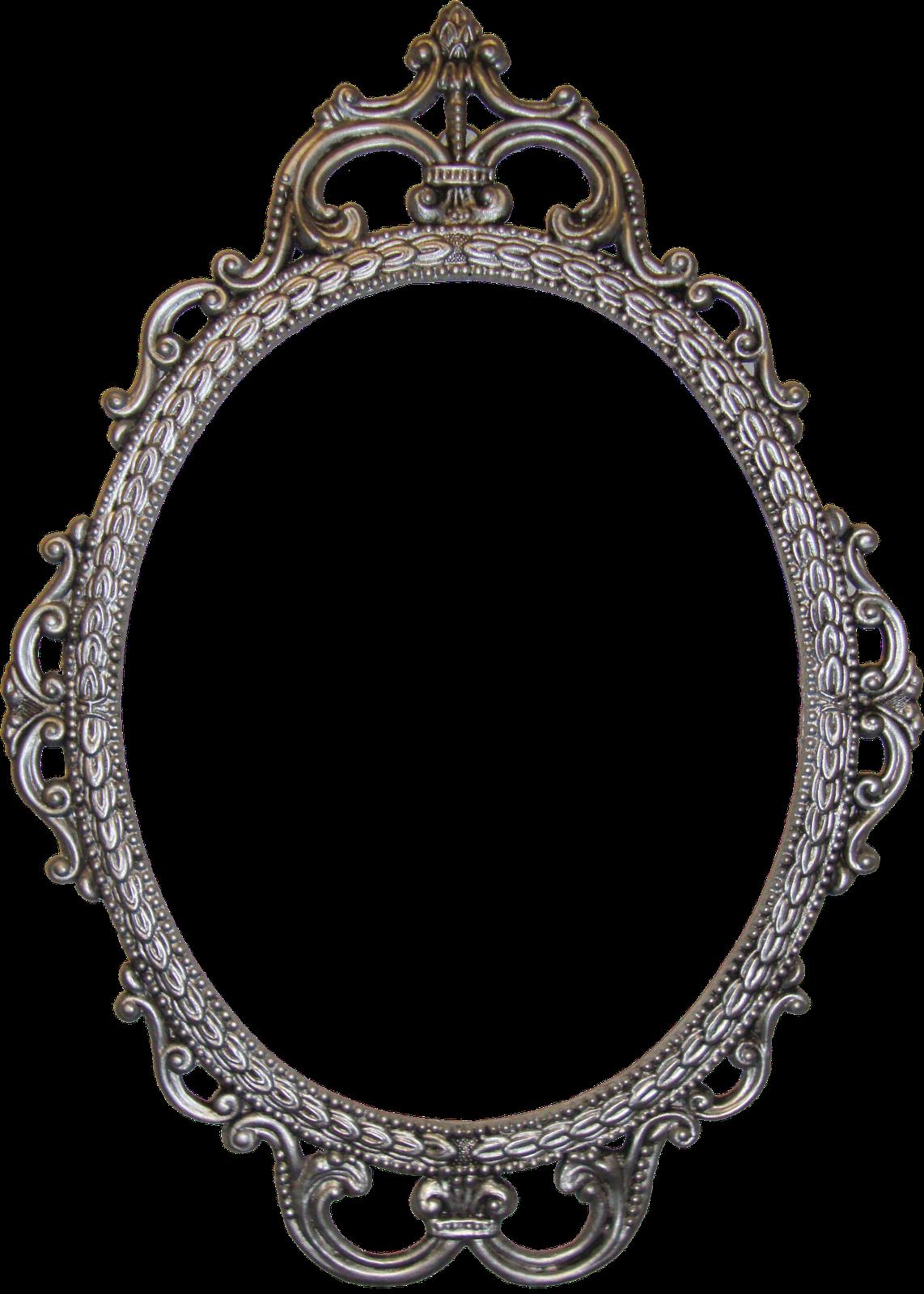 oval frame, Iron, Frame, Vint