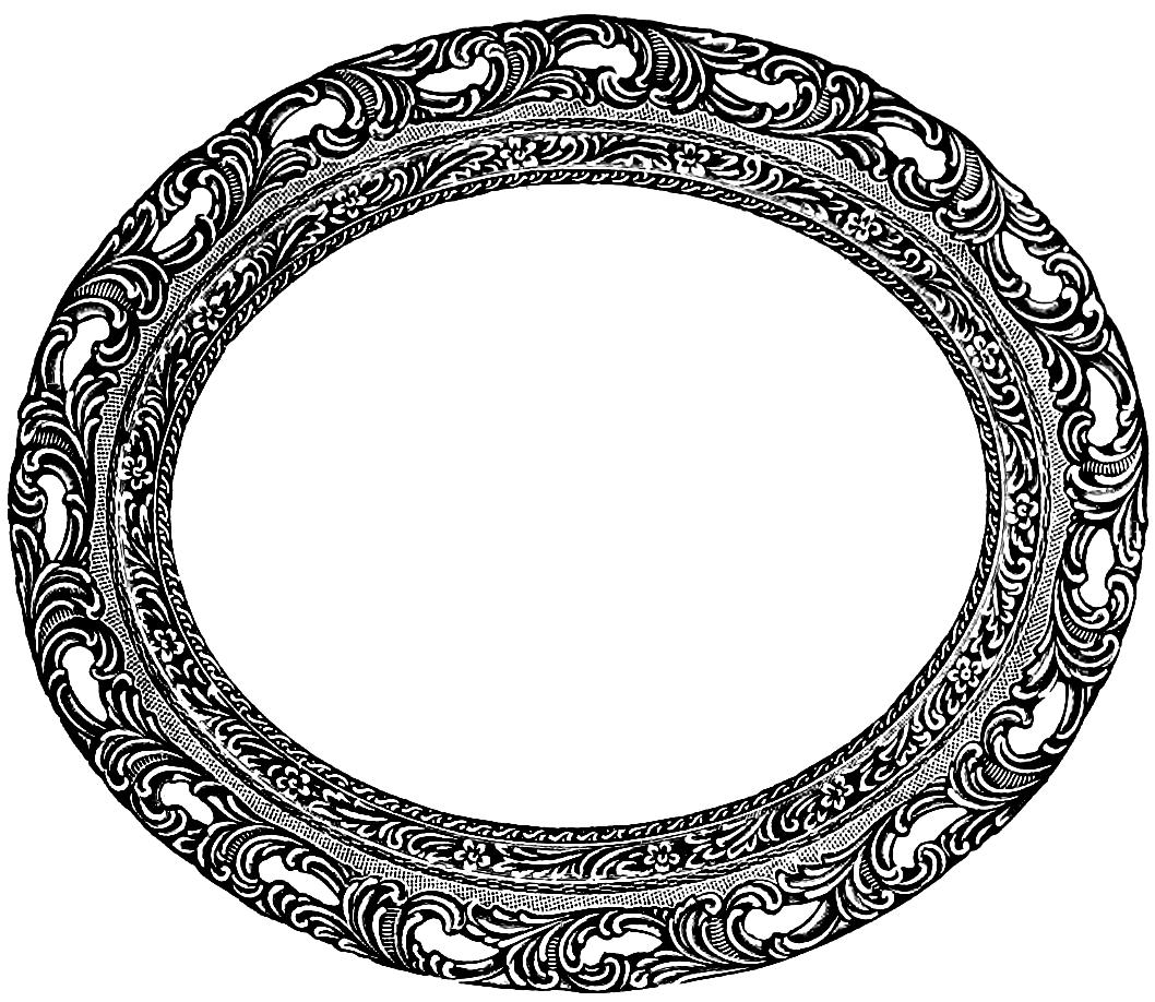 Download Vintage Oval Frame Clip Art Image - Antique Oval Frame PNG