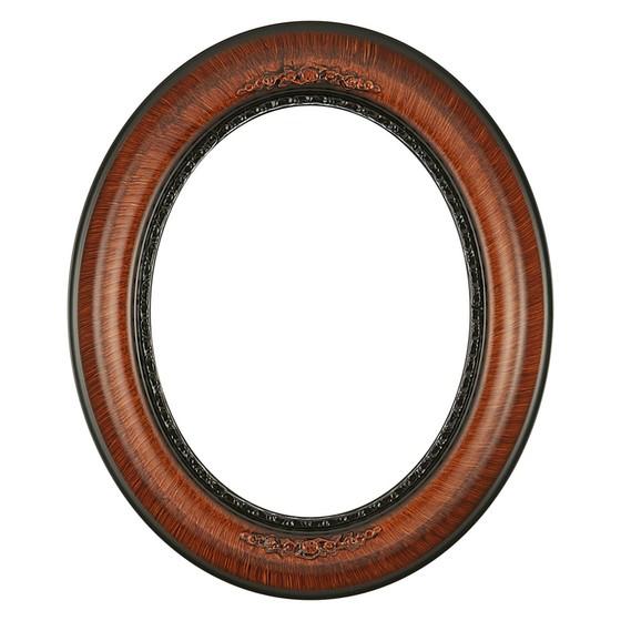 Oval Frame #457 Vintage Walnut - Antique Oval Frame PNG