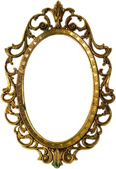 Oval vintage gold ornate fram