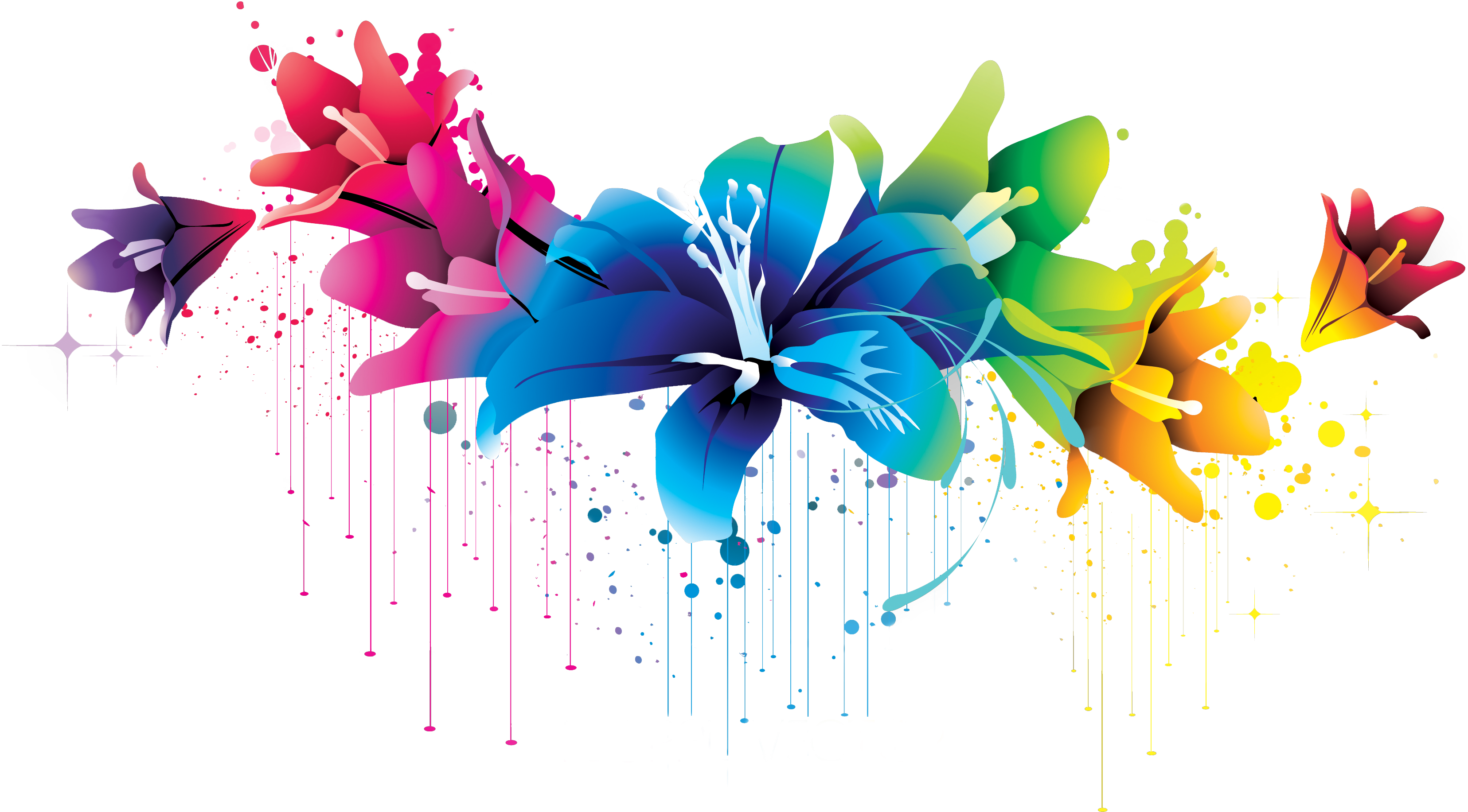 Colorful Flower Vector Clipar