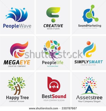 Logo collection,People Logo,brain logo,creative logo,Tree logo,sound - Aplic Art Logo Vector PNG