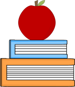Apple And Book PNG - 170893