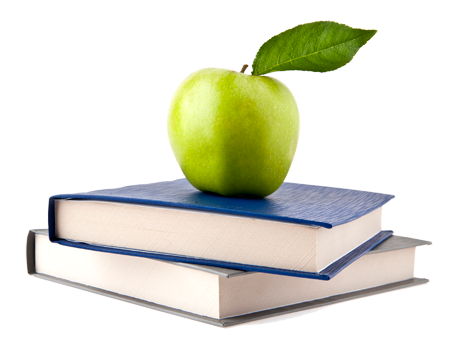 Apple And Book PNG - 170884