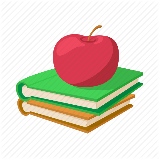 Apple And Book PNG - 170882