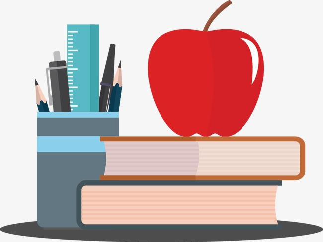 Apple And Book PNG - 170894