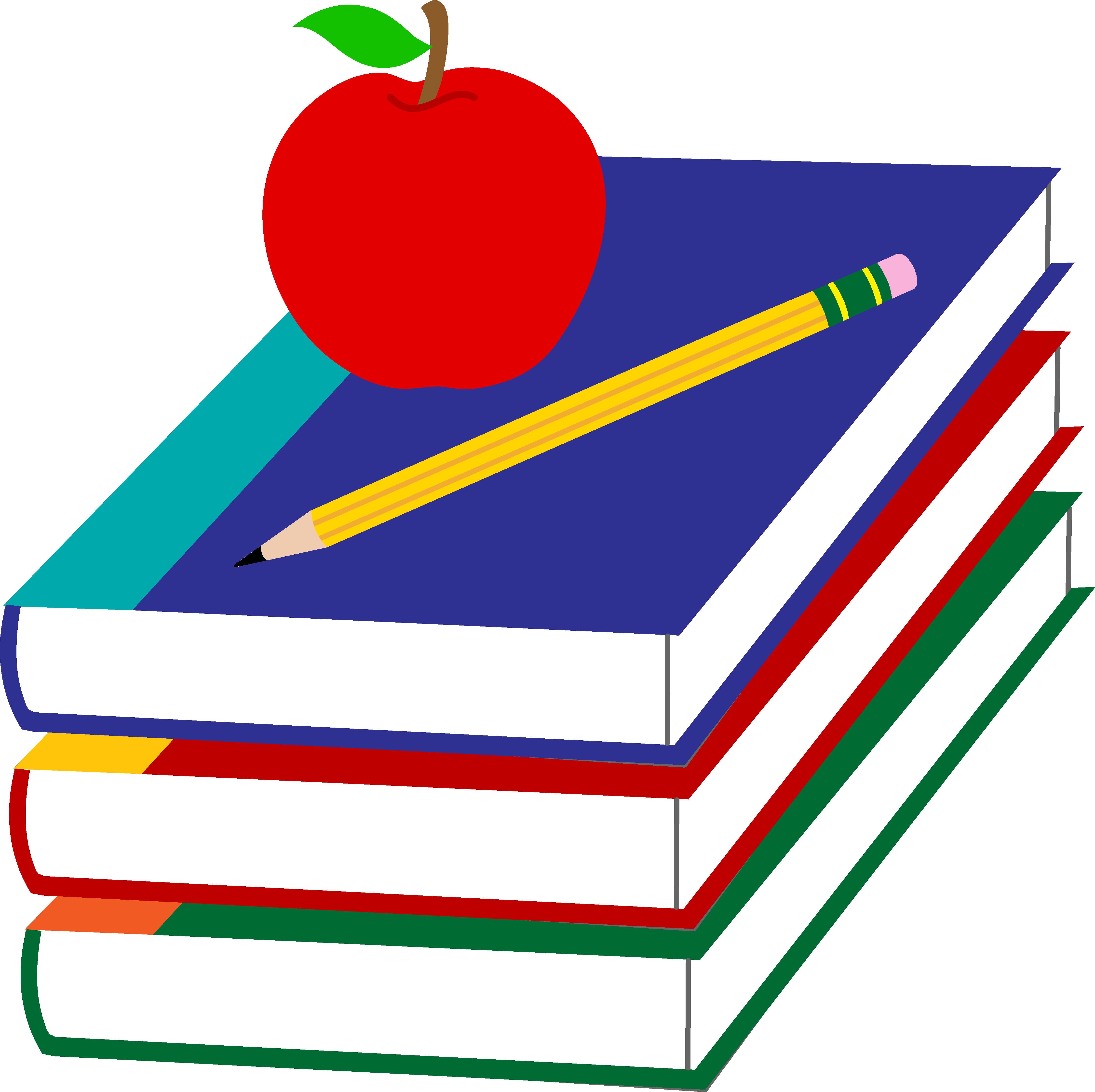 Apple And Book PNG - 170887