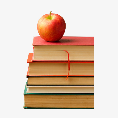 Apple And Book PNG - 170888