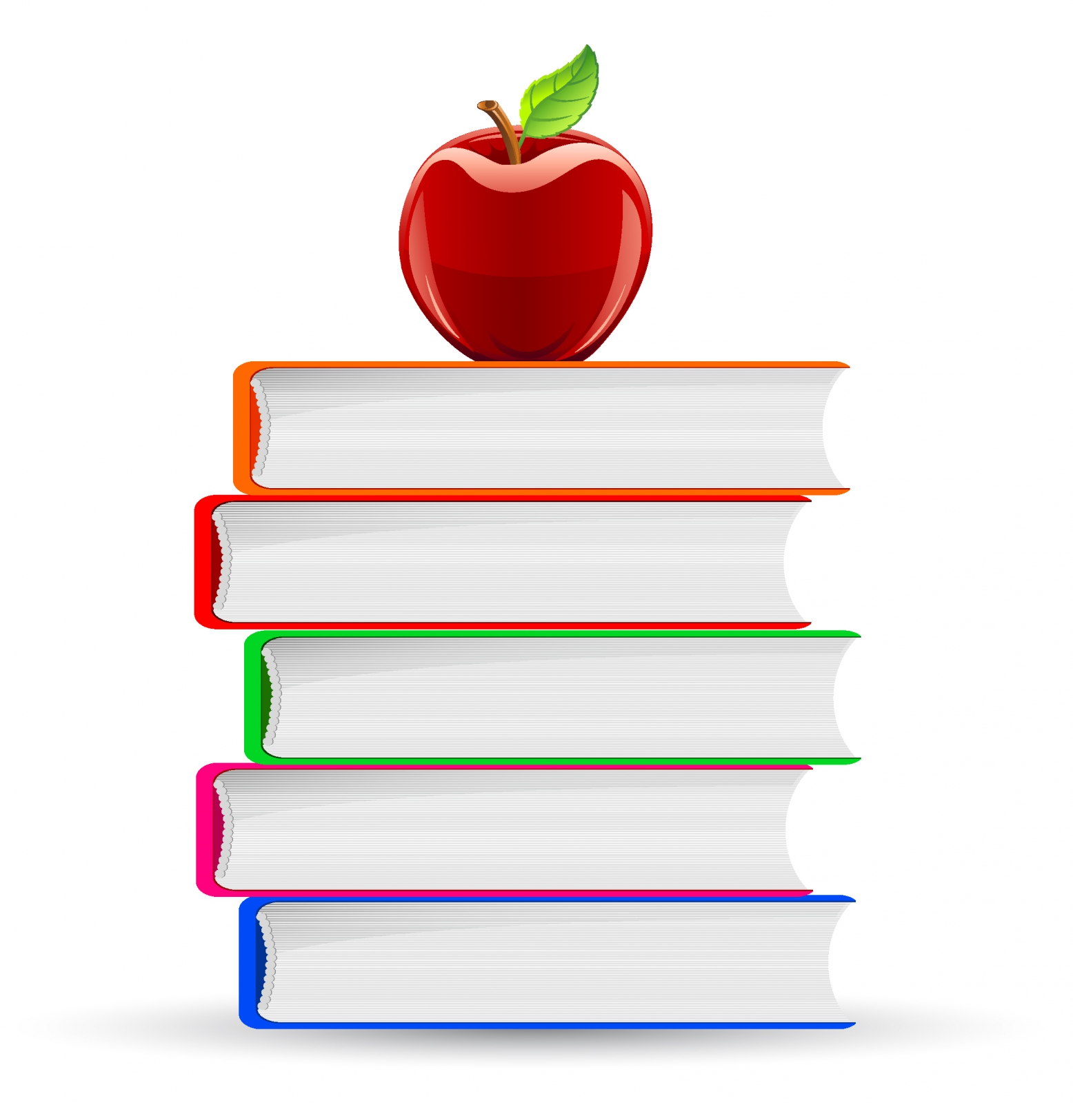 Apple And Book PNG - 170895