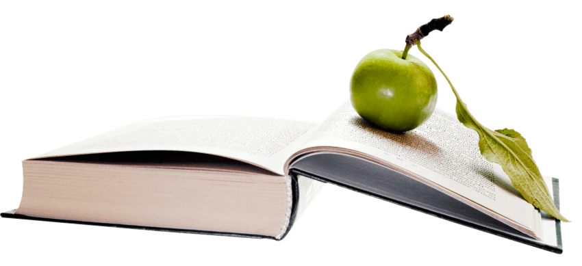 Apple And Book PNG - 170876